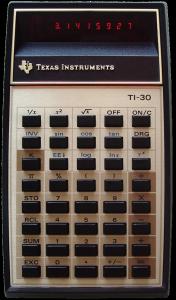 Texas Instruments TI-30 LED Calculator