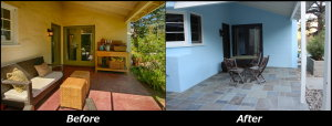 Front Side Porch - Before and After