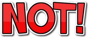 NOT! logo