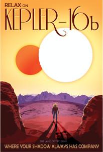 Nasa: Kepler-16b Poster