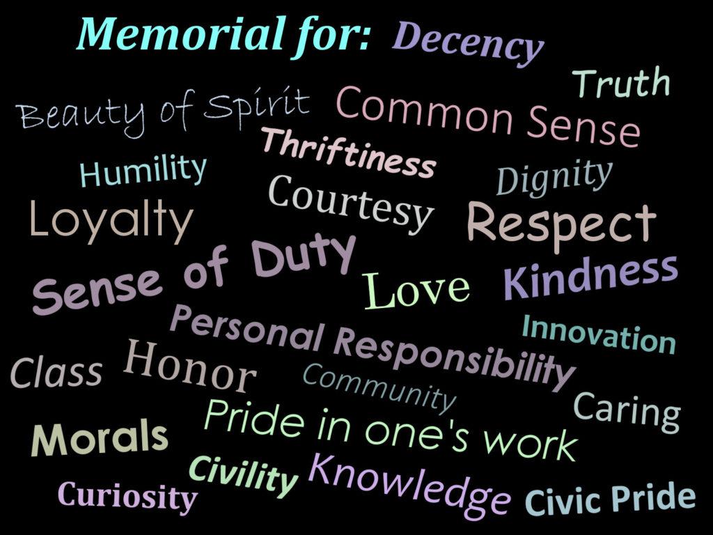 Memorial for Decency