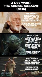 Star Wars 2016 Election: Joe's Dump