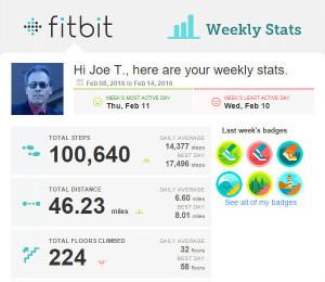 JoeActor FitBit Stats 2016-02