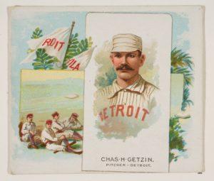 """Pretzels"" Getzien, Pitcher, Detroit Wolverines"